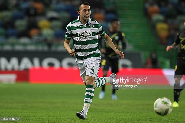 Sporting's defender Jefferson during the match between Sporting CP and CD Tondela for the Portuguese Primeira Liga at Jose Alvalade Stadium on...