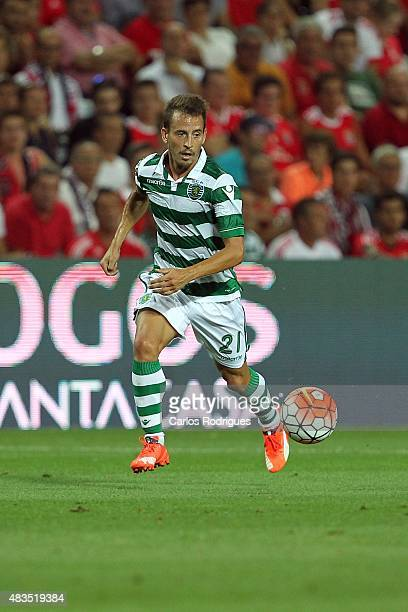 Sporting's defender Joao Pereira during the Portuguese Super Cup match between SL Benfica and Sporting CP at Estadio Algarve on August 9 2015 in Faro...