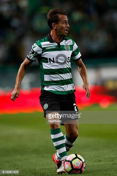 Sporting's defender Joao Pereira in action during Premier League 2016/17 match between Sporting CP vs Estoril Praia in Lisbon on September 23 2016