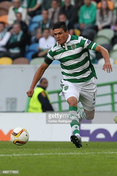 Sporting's defender Jonathan Silva during the match between Sporting CP and KF Skenderbeu for UEFA Europe League Group Round on October 22 2015 in...