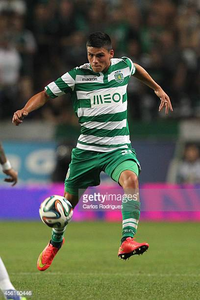 Sporting's defender Jonathan Silva during the Primeira Liga match between Sporting CP and FC Porto at Estadio Jose Alvalade on September 26 2014 in...