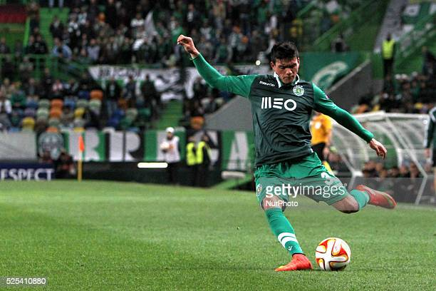 Sporting's defender Jonathan Silva during the UEFA Europa League football match Sporting CP v VfL Wolfsburg Round of 32 Second leg at Alvalade...