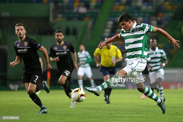 Sporting's defender Jonathan Silva in action during the UEFA Europa League Group H football match between Sporting CP and KF Sknderbeu at Alvalade...