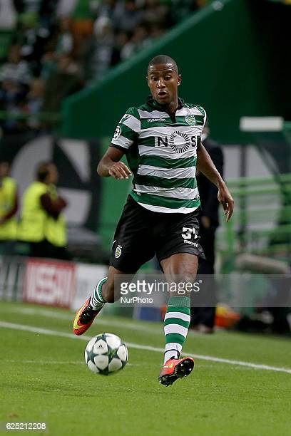 Sportings defender Marvin Zeegelaar from Holland in action during the UEFA Champions League match between Sporting Clube de Portugal and Real Madrid...