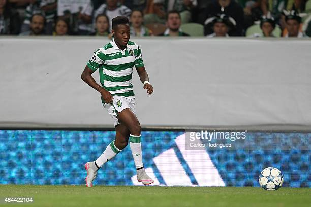 Sporting's forward Carlos Mane during the UEFA Champions League qualifying round playoff first leg match between Sporting CP and CSKA Moscow at...