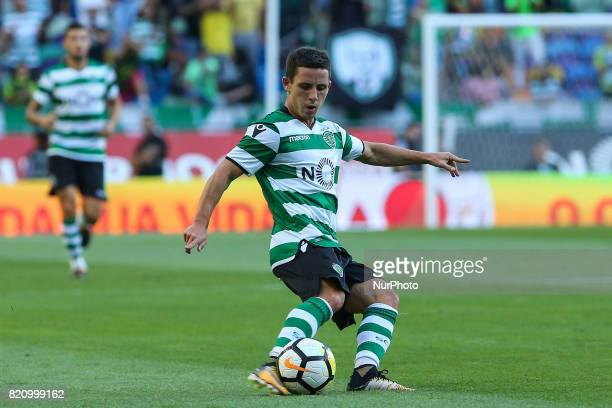 Sportings forward Daniel Podence from Portugal during the Preseason Friendly match between Sporting CP and AS Monaco at Estadio Jose Alvalade on July...
