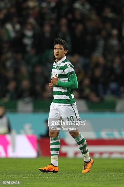 Sporting's forward Fredy Montero celebrates scoring Sporting«s third goal during the match between Sporting CP and A Academica de Coimbra for the...