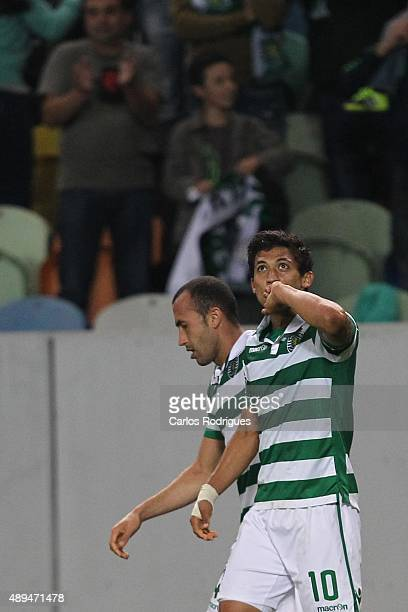 Sporting's forward Fredy Montero celebrating scoring Sporting«s goal during the match between Sporting CP and FC CD Nacional at Jose Alvalade Satdum...