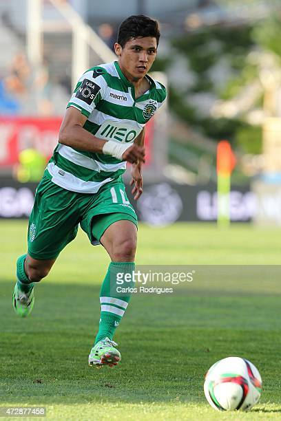 Sporting's forward Fredy Montero during the Prmeira Liga match between Estoril and Sporting CP at Estadio Antonio Coimbra da Mota on May 10 2015 in...
