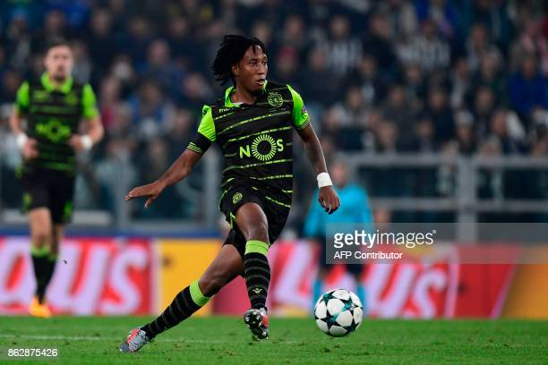 Sporting's forward Gelson Martins controls the ball during the UEFA Champions League Group D football match Juventus vs Sporting CP at the Juventus...