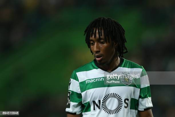 Sportings forward Gelson Martins from Portugal during Premier League 2017/18 match between Sporting CP and Portimonense SC at Alvalade Stadium in...