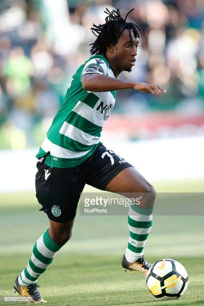 Sporting's forward Gelson Martins in action during Primeira Liga 2017/18 match between Sporting CP vs Estoril Praia in Lisbon on August 27 2017