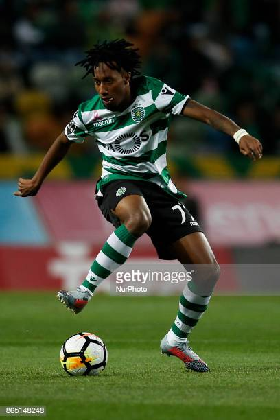 Sporting's forward Gelson Martins in action during Primeira Liga 2017/18 match between Sporting CP vs GD Chaves in Lisbon on October 22 2017