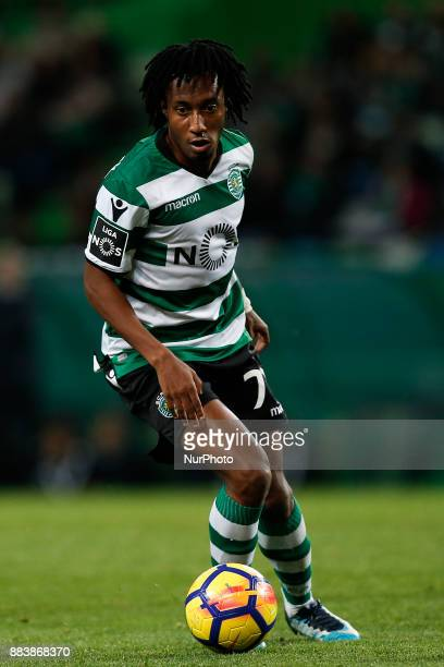 Sporting's forward Gelson Martins in action during Primeira Liga 2017/18 match between Sporting CP vs CF Belenenses in Lisbon on December 1 2017