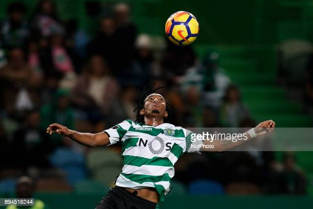 Sporting's forward Gelson Martins in action during Primeira Liga 2017/18 match between Sporting CP vs Portimonense SC in Lisbon on December 17 2017