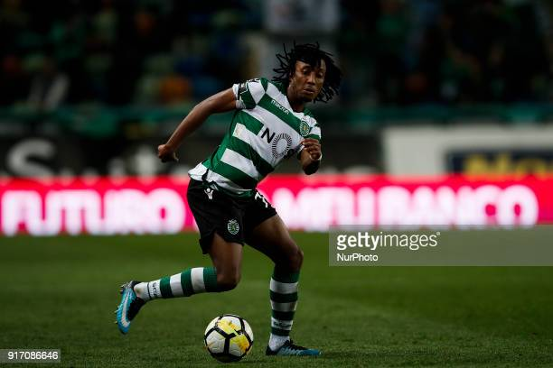 Sporting's forward Gelson Martins in action during Primeira Liga 2017/18 match between Sporting CP vs CD Feirense in Lisbon on February 11 2017