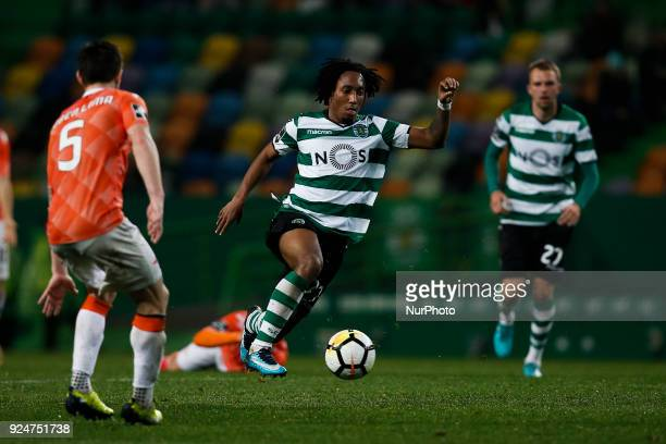 Sporting's forward Gelson Martins in action during Primeira Liga 2017/18 match between Sporting CP vs Moreirense FC in Lisbon on February 26 2017
