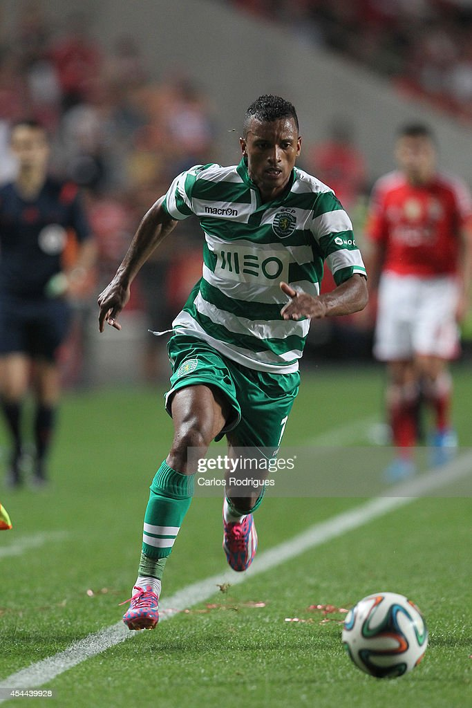 Sporting's forward Nani during the Primeira Liga match between SL Benfica and Sporting CP at Estadio da Luz on August 31, 2014 in Lisbon, Portugal. (Photo by Carlos Rodrigues/Getty Images).