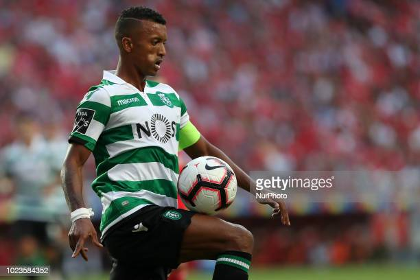 Sporting's forward Nani from Portugal in action during the Portuguese League football match SL Benfica vs Sporting CP at the Luz stadium in Lisbon on...