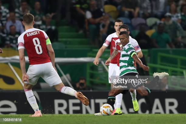 Sporting's forward Nani from Portugal in action during the UEFA Europa League Group E football match Sporting CP vs Arsenal FC at Jose Alvalade...