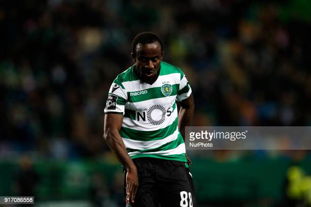 Sporting's forward Seydou Doumbia reacts during Primeira Liga 2017/18 match between Sporting CP vs CD Feirense in Lisbon on February 11 2017