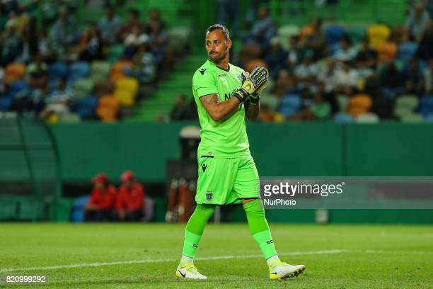 Sportings goalkeeper Beto Pimparel from Portugal during the Preseason Friendly match between Sporting CP and AS Monaco at Estadio Jose Alvalade on...