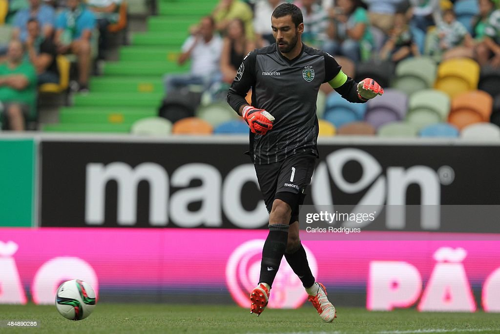 Sporting's goalkeeper Rui Patricio during the match between Sporting CP and FC Pacos de Ferreira at Jose Alvalade Stadium on August 22, 2015 in Lisbon, Portugal.