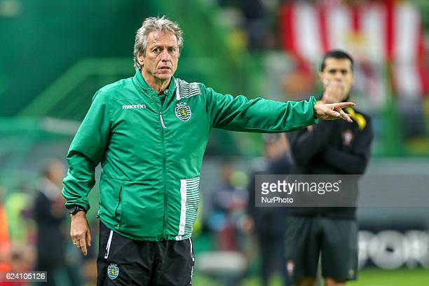 Sportings head coach Jorge Jesus from Portugal during Portuguese Cup match between Sporting CP v SC Praiense at Alvalade Stadium in Lisbon on...