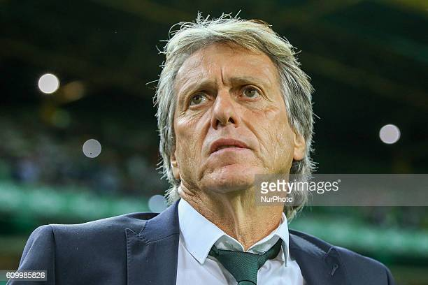 Sportings head coach Jorge Jesus from Portugal during Premier League 2016/17 match between Sporting CP and Estoril at Alvalade Stadium in Lisbon on...