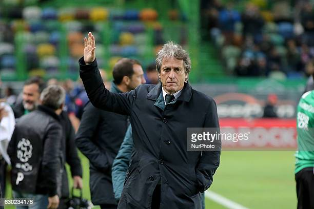 Sportings head coach Jorge Jesus from Portugal during Premier League 2016/17 match between Sporting CP and SC Braga at Alvalade Stadium in Lisbon on...