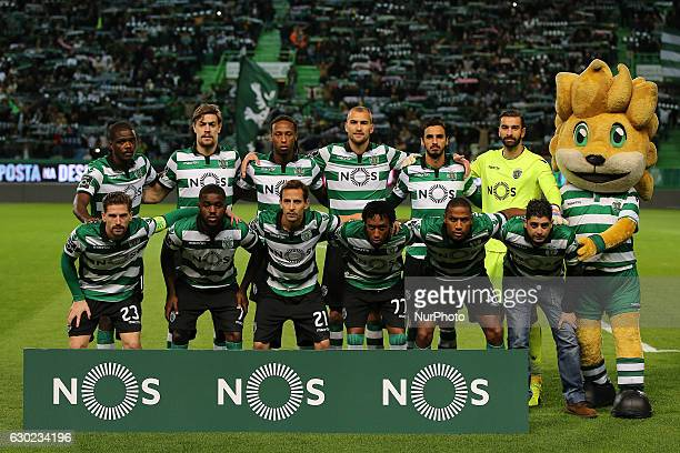 Sportings inicial team during Premier League 2016/17 match between Sporting CP and SC Braga at Alvalade Stadium in Lisbon on December 18 2016