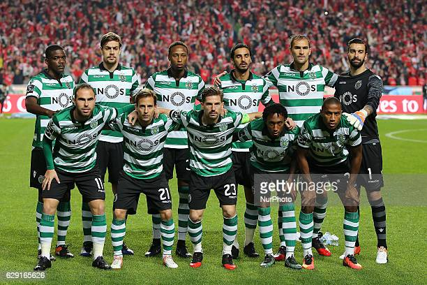 Sportings inicial team during Premier League 2016/17 match between SL Benfica and Sporting CP at Estadio da Luz in Lisbon on December 11 2016