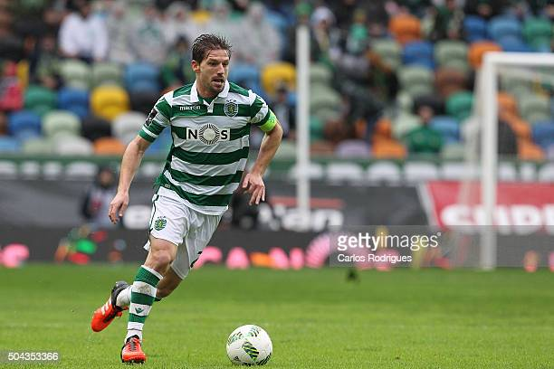 Sporting's midfielder Adrien Silva during the match between Sporting CP and SC Braga for the Portuguese Primeira Liga at Jose Alvalade Stadium on...