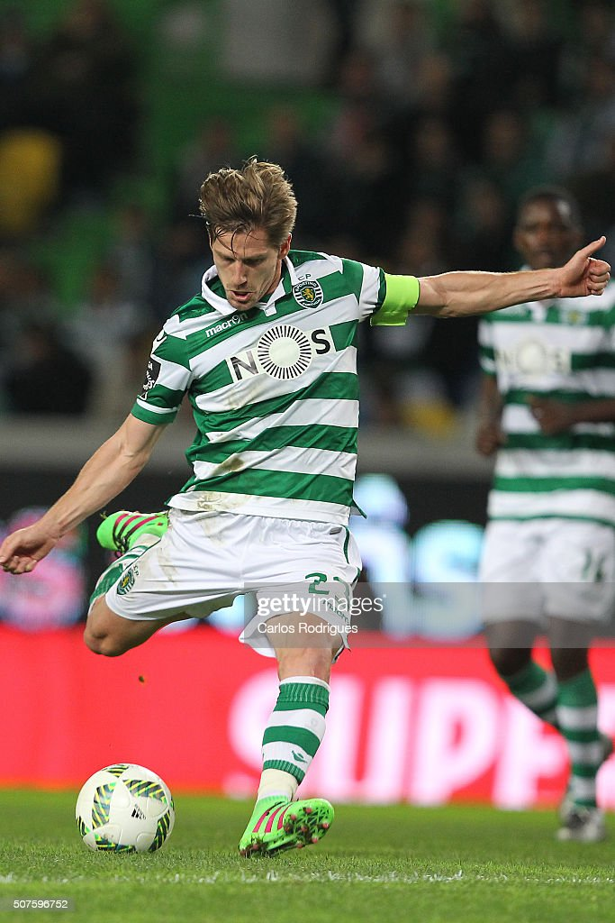 Sporting's midfielder Adrien Silva during the match between Sporting CP and A Academica de Coimbra for the Portuguese Primeira Liga at Jose Alvalade Stadium on January 30, 2016 in Lisbon, Portugal.