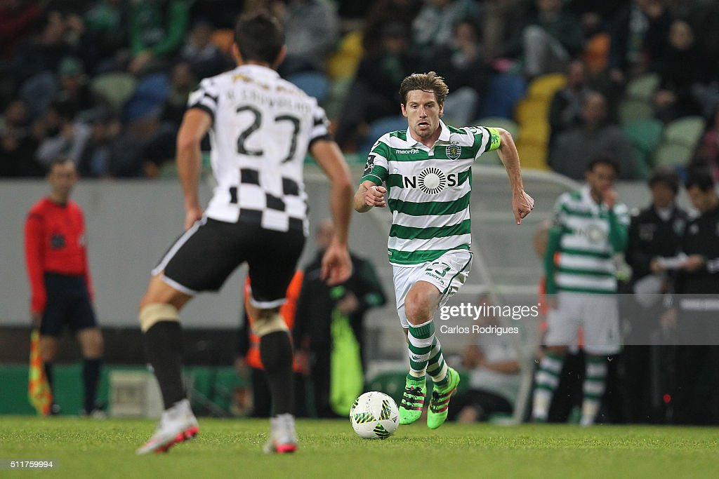 Sporting's midfielder Adrien Silva during the match between Sporting CP and Boavista FC for the Portuguese Primeira Liga at Jose Alvalade Stadium on February 22, 2016 in Lisbon, Portugal.