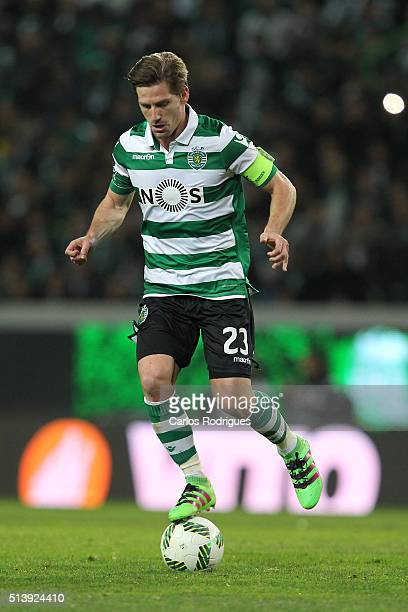 Sporting's midfielder Adrien Silva during the match between Sporting CP and SL Benfica for the Portuguese Primeira Liga at Jose Alvalade Stadium on...