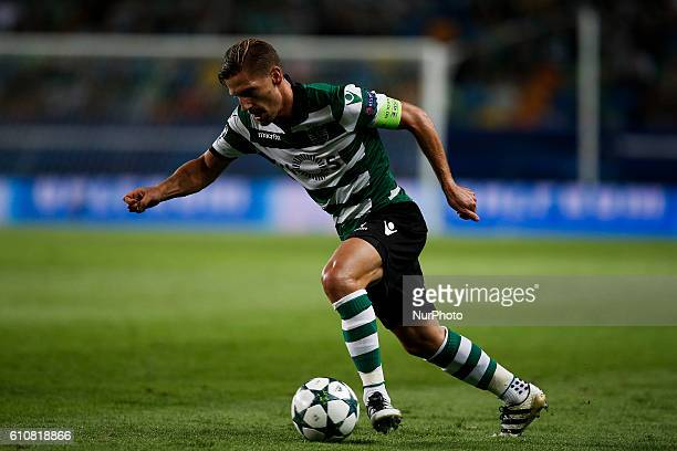 Sporting's midfielder Adrien Silva in action during UEFA Champions League football match between Sporting CP and Legia Warsaw in Lisbon on September...