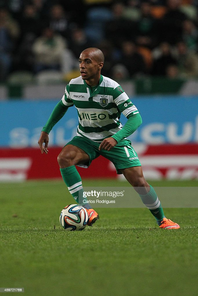 Sporting's midfielder Joao Mario during the Primeira Liga Portugal match between Sporting CP and Vitoria Setubal at Estadio Jose Alvalade on November 29, 2014 in Lisbon, Portugal.