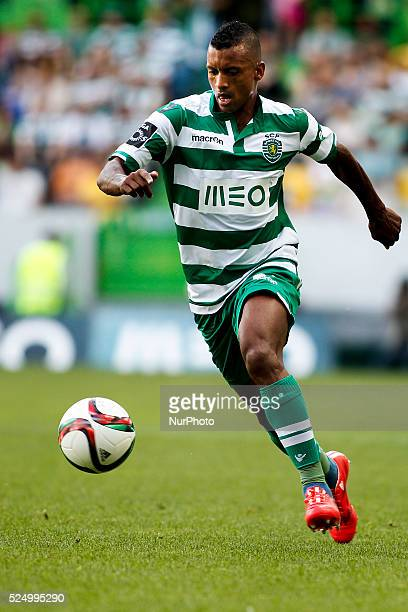 Sporting's midfielder Luis Carlos da Cunha quotNaniquot in action during the Portuguese League football match between Sporting CP and SC Braga at...