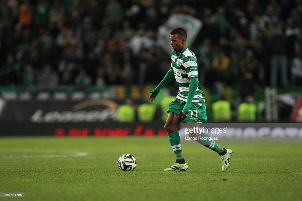 Sporting's midfielder Nani during the Primeira Liga Portugal match between Sporting CP and Vitoria Setubal at Estadio Jose Alvalade on November 29, 2014 in Lisbon, Portugal.
