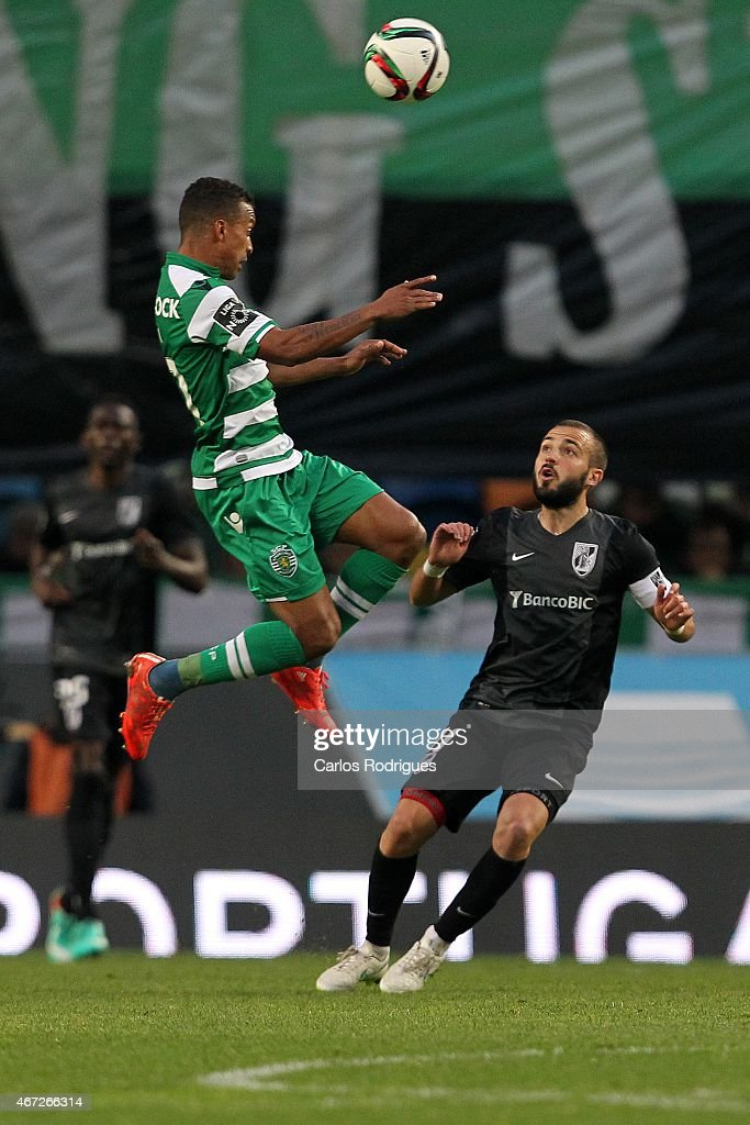 Sporting's midfielder Nani during the Primeira Liga Portugal match between Sporting CP and Vitoria Guimaraes at Estadio Jose Alvalade on March 22, 2015 in Lisbon, Portugal.