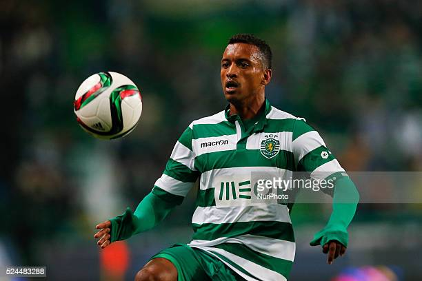 Sporting's midfielder Nani in action during the Portuguese League football match between Sporting CP and Estoril Praia at Jose Alvalade Stadium in...