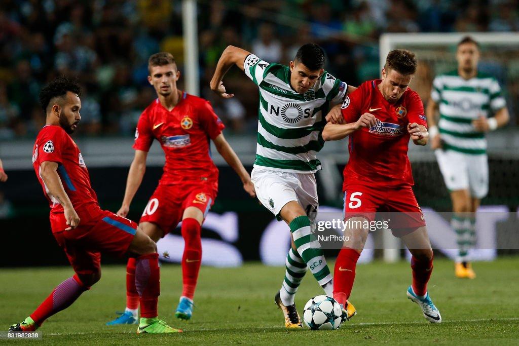 Sporting CP v Steaua Bucuresti - UEFA Champions League Qualifying Play-Offs Round: First Leg : News Photo