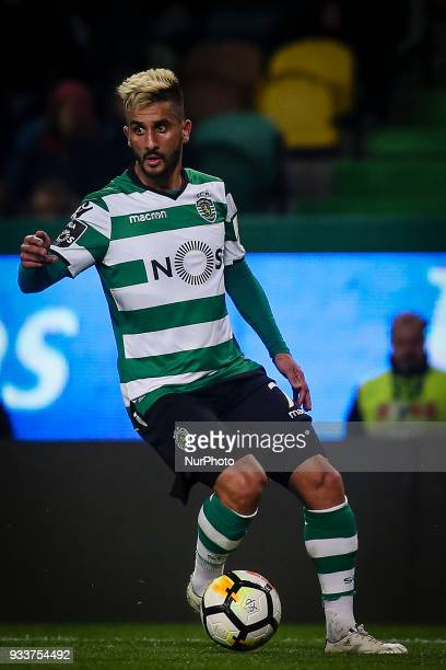 Sporting's midfielder Ruben Ribeiro in action during the Portuguese League football match between Sporting CP and Rio Ave FC at Jose Alvalade Stadium...