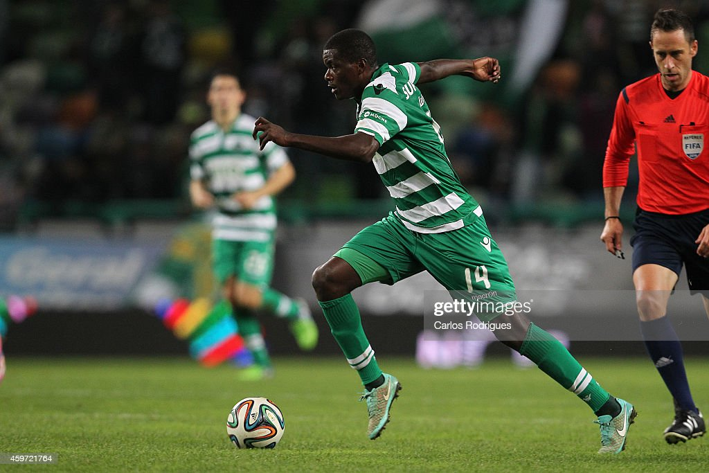 Sporting's midfielder William Carvalho during the Primeira Liga Portugal match between Sporting CP and Vitoria Setubal at Estadio Jose Alvalade on November 29, 2014 in Lisbon, Portugal.