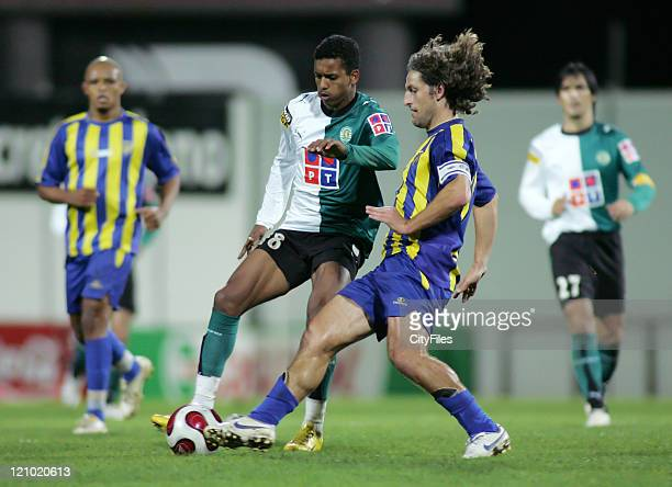 Sporting's Nani in action against Uniao's Paiva during the Portuguese Cup fourth round match between União da Madeira and Sporting Lisbon in Madeira...