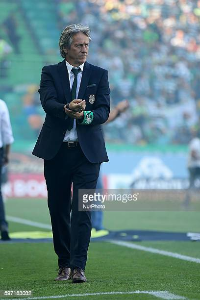 Sporting's Portuguese coach Jorge Jesus during Premier League 2016/17 match between Sporting CP v FC Porto at Alvalade Stadium in Lisbon on August 28...