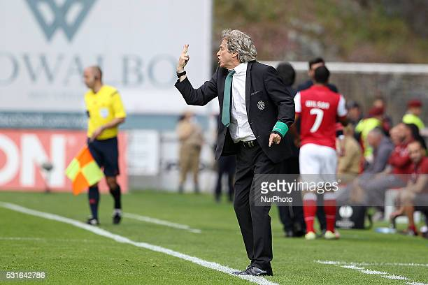 Sporting's Portuguese coach Jorge Jesus during the Premier League 2015/16 match between SC Braga and Sporting CP at AXA Stadium in Braga on May 15...