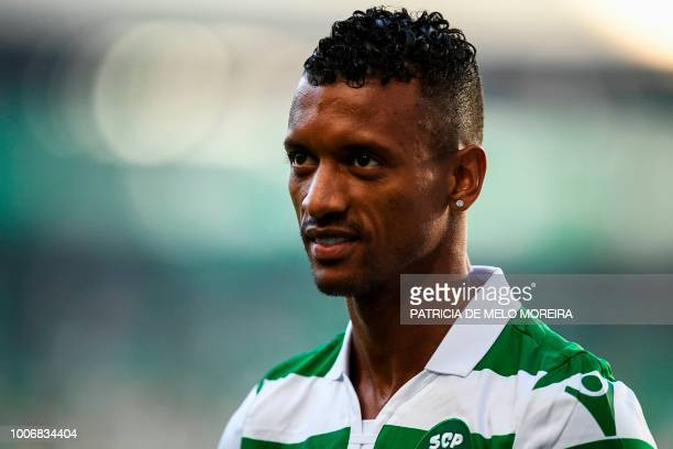 Sporting's Portuguese forward Nani attends a friendly football match between Sporting and Marseille at the Alvalade stadium on July 28 2018