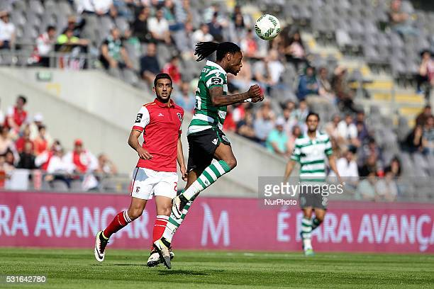 Sporting's Portuguese midfielder R��ben Semedo ina ction during the Premier League 2015/16 match between SC Braga and Sporting CP at AXA Stadium in...